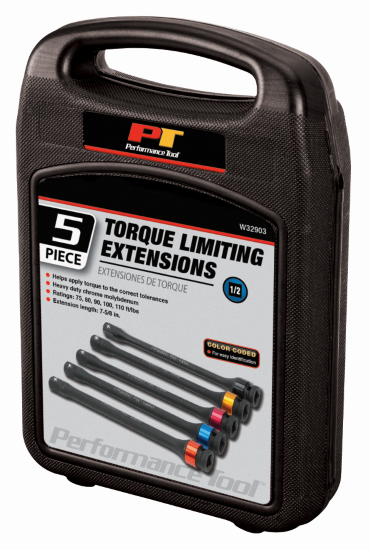 80 110 FT//LBS W32903 100 90 WILMAR TOOLS 5 PC TORQUE LIMITING EXTENSIONS 75